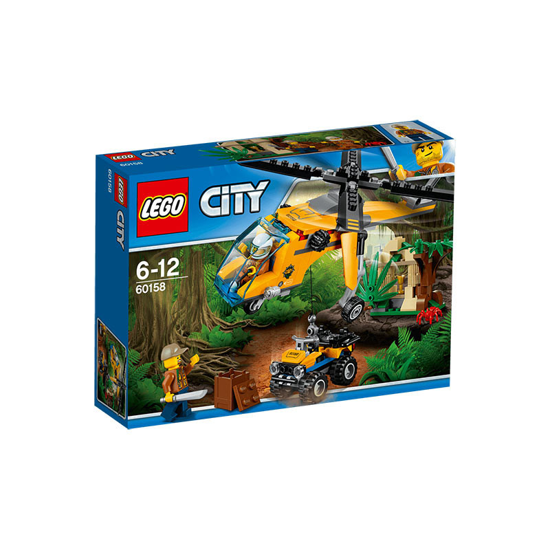 Buy Lego City (60158) Jungle Cargo Helicopter Build Toy for Kids ...