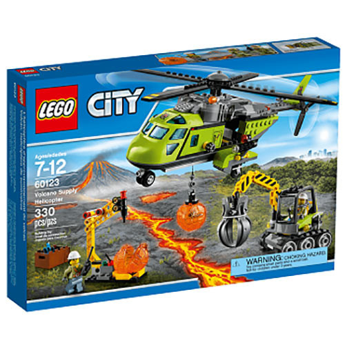 Buy Lego City (60123) Volcano Supply Helicopter Build Toy For Kids ...