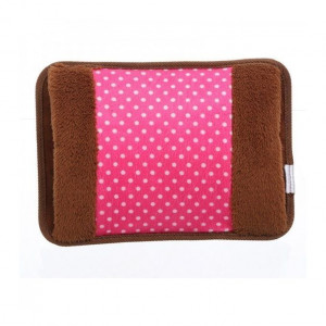 Electric Hot Water Bag - Brown/Pink