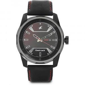 Fastrack Analog Black Dial Men's Watch - 3166KL02