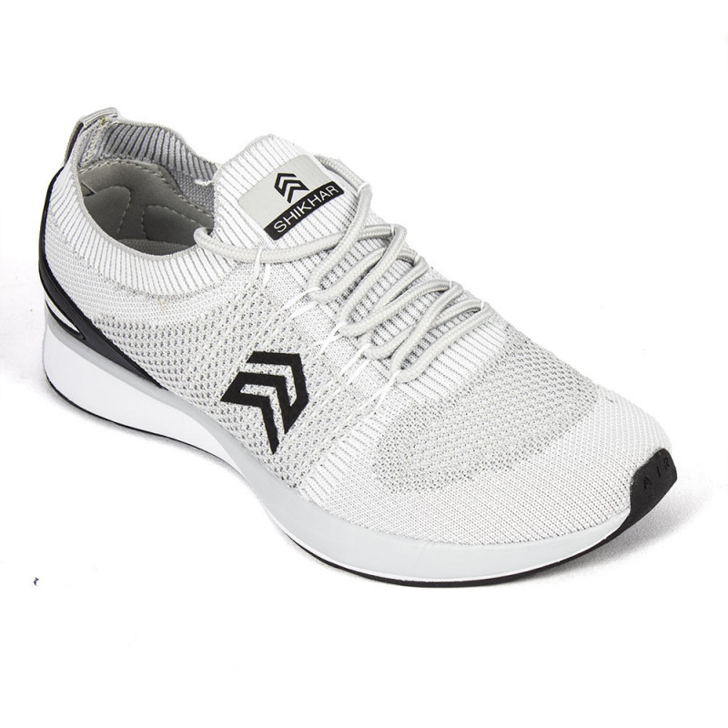 f3de9d31d8 Buy Light Weight Knitted Light Grey Sports Shoe With Show Shoe Lace - (813)  online at best price in Nepal - Reddoko . com