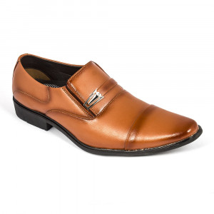 Brown Leather Formal Shoe for Men- (2921)