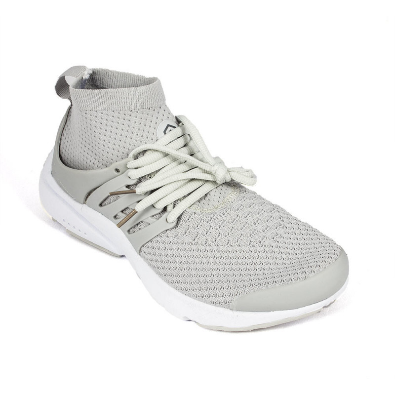 eaa2337f14 Buy Light Weight Knitted Light Grey Sports Shoe With Extended Ankle -  (6107) online at best price in Nepal - Reddoko . com