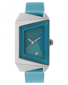 Fastrack Girls Leather Analog Blue Watch - 6148Sl01C