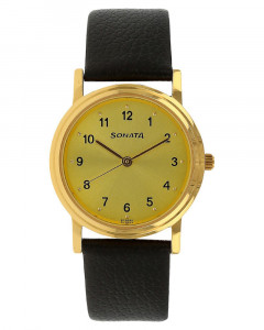 Sonata Analog Gold Dial Men's Watch - ND1141YL01