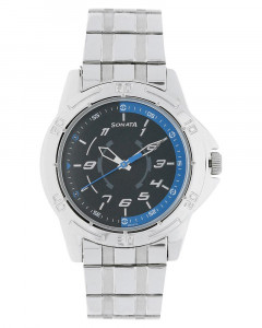 Sonata Analog Black Dial Men's Watch - 77001SM01A