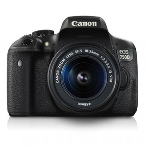 Canon EOS 750D DSLR Camera with Kit Lens Combo (EF-S18-55mm IS STM)