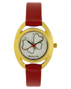 Silver Dial Analog Watch for Women - 8960YL02