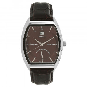 Titan Classique Brown Dial Men's Analog Watch - 1680SL04