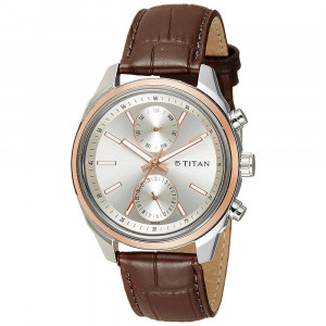 Titan Neo Silver Dial Multifunction Watch for Men - 1733KL02