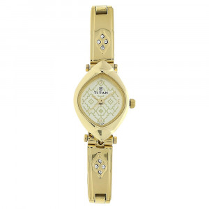Titan Champagne Dial Stainless Steel Strap Watch - 2417YM04