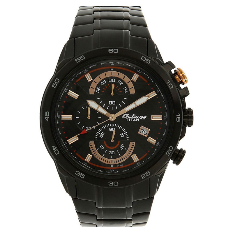 ed9e6f500 Buy Titan Octane Black Dial Chronograph Watch for Men - 90046NM01 online at  best price in Nepal - Reddoko . com