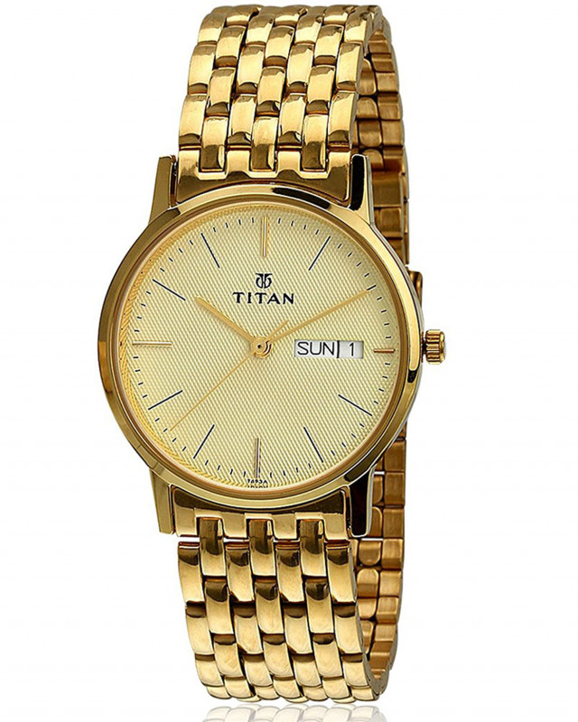 327c51896 Buy Titan Karishma Analog Gold Dial Men S Watch - Ne149Ym07 online at best  price in Nepal - Reddoko . com