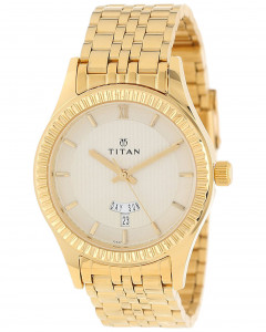 Titan Regalia Collection Watch With Day & Date Function 1528Ym05