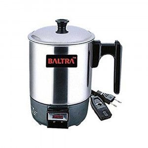 Baltra BHC-103 Electric Heating Cup 13cm - (Chrome/Black) - Travel Kettle
