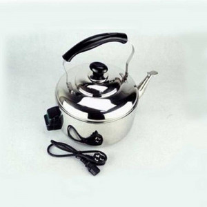 Baltra Solid 7 Ltrs Electric Whistling Kettle - (Chrome/Black)