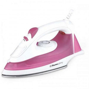 Homeglory HGI-104 2000W Steam & Spray Iron - (Pink/White)