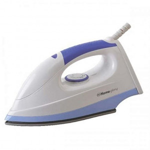 Homeglory HGI-105 1600W Dry Iron - (White/Blue)