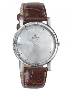 Titan Karishma Analog Silver Dial Men'S Watch -1639Sl01