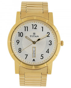 Titan Karishma Silver White Dial Analog Watch For Men - 1647Ym03