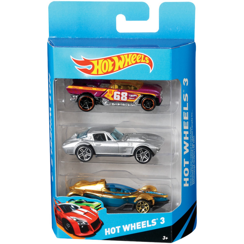 Hot Wheels Set Of 3 Car Toys K5904