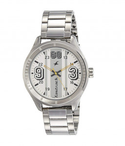 Fastrack Varsity Analog Silver Dial Men's Watch-3177SM02