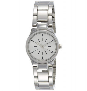 Fastrack Analog Silver Dial Women's Watch - 6114SM01