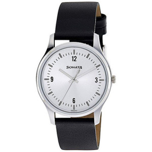 Sonata Silver Dial Analog Watch For Men - 77082SL01