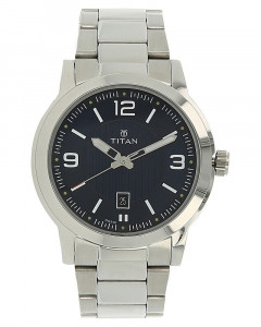 Titan Neo Blue Dial Stainless Steel Strap Watch-1730Sm03