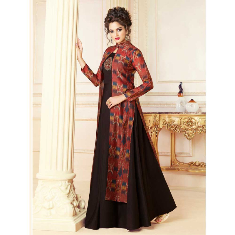 f61b67ca66dbd0 Buy Stylee Lifestyle Women's Rayon Embroidered Gown (1714, Black, Free  Size) online at best price in Nepal - Reddoko . com