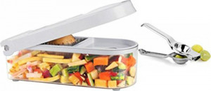 Ganesh Fruits/Vegetable Chopper With Lemon Squeezer - Assorted Colors