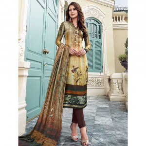 Stylee Lifestyle Multi Satin Printed Dress Material - 1860