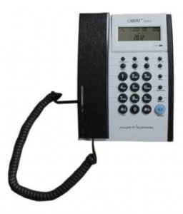 Orpat 3565 Corded Landline Phone - (White/Black)