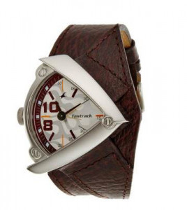 Fastrack 3022SL01 Casual Brown Leather Strap Analog Watch