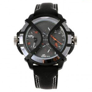 38016PL01 Grey Dial Casual Analog Watch For Men -(Black)