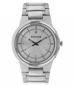 Silver Dial Analog Watch For Men - 7121SM01