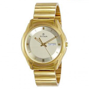 1578YM05 Karishma Gold Dial Analog Watch For Men