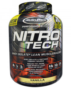 Muscletech Nitro-Tech Whey Protein Isolate + Lean Muscle Builder 3.97 LBS