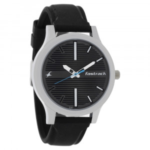 Fastrack 38051SP01 Fundamentals Black Dial Analog Watch For Men - Black