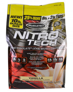 Muscletech Nitro-Tech Whey Protein Isolate + Lean Muscle Builder 10 LBS