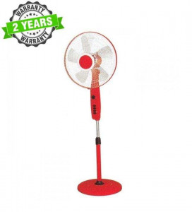 """Baltra BF177 DHOOM METAL 3 Speed 16"""" Stand Fan - (White/Blue)"""