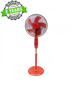 """Baltra BF133 DARBY 3 Speed 16"""" Stand Fan - (Red)"""