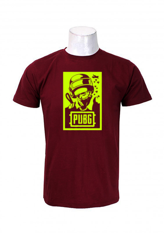 c35e1263 Buy Wosa -Pubg poster Print Maroon Printed T-shirt For Men online at best  price in Nepal - Reddoko . com
