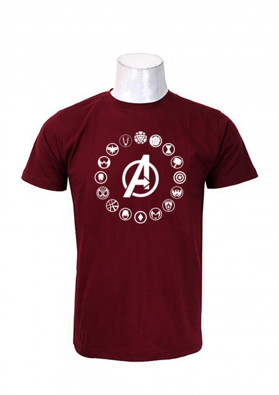 a2058f80f Buy Wosa -AVENGER PRINT Maroon Printed T-shirt For Men online at best price  in Nepal - Reddoko . com