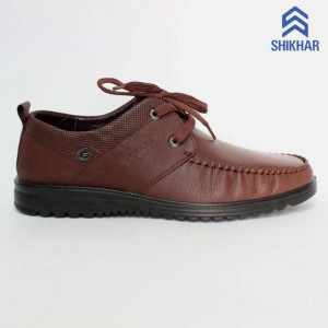 Shikhar Brown Casual Leather Shoes for Men - 11124