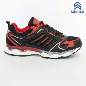5718 Mesh/Rubber Sports Sneaker Shoes For Men- Black/Red