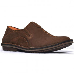 Shikhar Dark Brown Casual Leather Shoes for Men - 1706