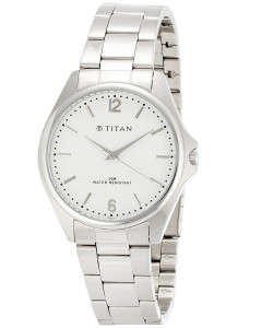 Titan Tycoon Analog White Dial Men's Watch - NE9439SM02J
