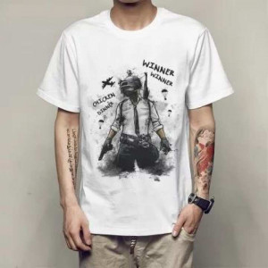 White Printed T-shirt for men