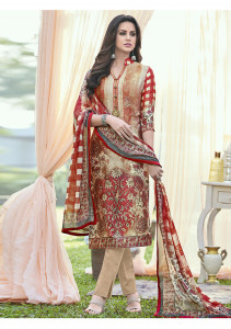 Stylee Lifestyle Multi Satin Printed Dress Material - 2107